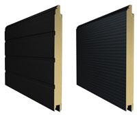 S-гофр тиснение woodgrain и микроволна цвет RAL 7016 (серый антрацит)