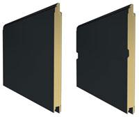 L-гофр без тиснения (smooth)и М-гофр цвет RAL 7016 (серый антрацит)