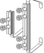 Крепление арт. 3KK для систем ALT C43 и ALT C48 – открывание наружу; W62,W72 – открывание внутрь