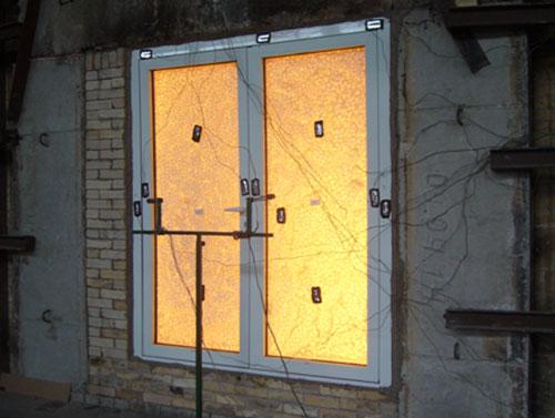 Успешные испытания двухстворчатых дверей на класс огнестойкости EIW30