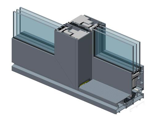 Узел ALT SL160: одна из двух створок заглушена, на раму SL160.0101 установлен порог SL160.0810