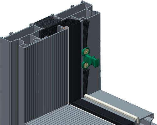 Профиль SL160.0101 с установленным в него пазовым уплотнителем FRK188