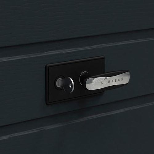 Стильный черный: новая коллекция Black Chrome для гаражных ворот Prestige