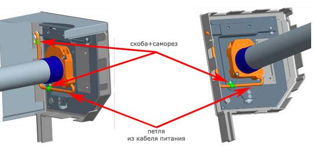 Монтаж электропривода в комплектации с крышками боковыми SF360/S, консолями BRC и каретками подвижными серии RC