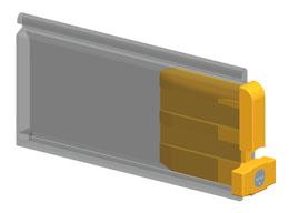 Стопор SPT8E (SPT9E) устанавливается по краям концевого профиля