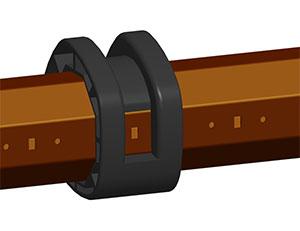 Дистанционные кольца RDS70/77 установить на валу RT70x1,2 с интервалом 450±50мм и на расстоянии 200±50 мм от краев вала таким образом, чтобы