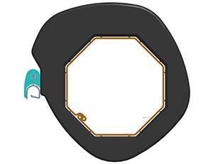 Зацеп пружины SS190RDS расположить относительно дистанционного кольца так, как показано на рисунке, во избежание неправильной намотки профиля