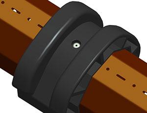 Фиксация дистанционных колец RDS70/77 на валу октогональном RT70x1,2 осуществлять при помощи саморезов либо заклепок. Каждое кольцо фиксировать от смещения при помощи самореза 3.5х9.5 DIN 7981, либо заклепки 3х10