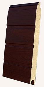 Секционные ворот серии STANDARD с цветом полотна «под дерево»: Вишня