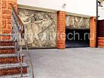 Секционные ворота «Алютех» с рельефным декором