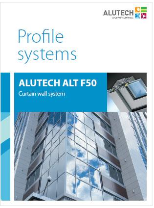 ALT F50 Mullion-transom curtain wall system